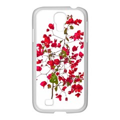 Red Petals Samsung Galaxy S4 I9500/ I9505 Case (white)