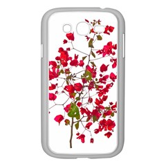 Red Petals Samsung Galaxy Grand Duos I9082 Case (white)