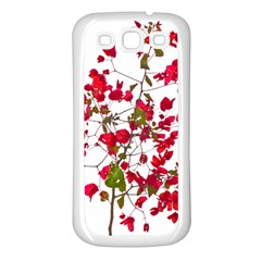 Red Petals Samsung Galaxy S3 Back Case (white)