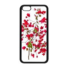 Red Petals Apple iPhone 5C Seamless Case (Black)