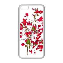 Red Petals Apple iPhone 5C Seamless Case (White)