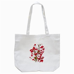 Red Petals Tote Bag (White)