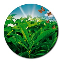 Nature Day 8  Mouse Pad (round)