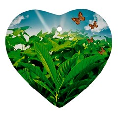 Nature Day Heart Ornament