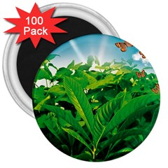 Nature Day 3  Button Magnet (100 pack)