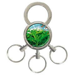 Nature Day 3-Ring Key Chain