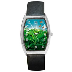 Nature Day Tonneau Leather Watch