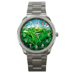 Nature Day Sport Metal Watch