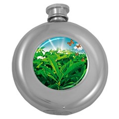 Nature Day Hip Flask (Round)