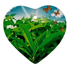 Nature Day Heart Ornament (two Sides)