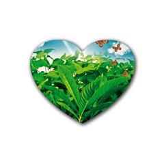 Nature Day Drink Coasters (Heart)