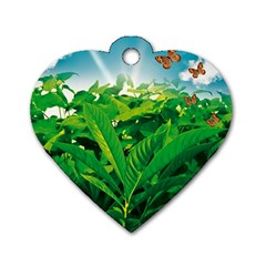 Nature Day Dog Tag Heart (Two Sided)