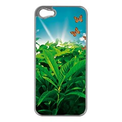 Nature Day Apple iPhone 5 Case (Silver)