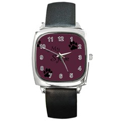 Poster From Postermywall Square Leather Watch