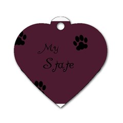 Poster From Postermywall Dog Tag Heart (Two Sided)