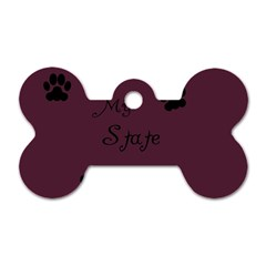 Poster From Postermywall Dog Tag Bone (Two Sided)