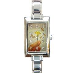 Butterflies Charmer Rectangular Italian Charm Watch
