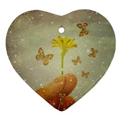 Butterflies Charmer Heart Ornament