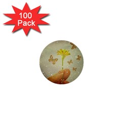 Butterflies Charmer 1  Mini Button (100 Pack)