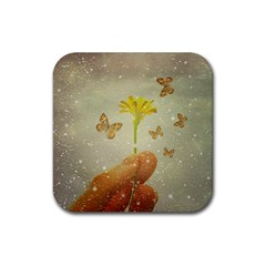 Butterflies Charmer Drink Coaster (square)