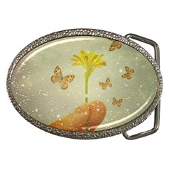 Butterflies Charmer Belt Buckle (oval)