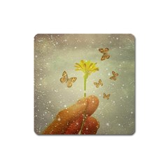 Butterflies Charmer Magnet (Square)