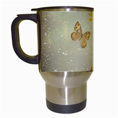 Butterflies Charmer Travel Mug (white)