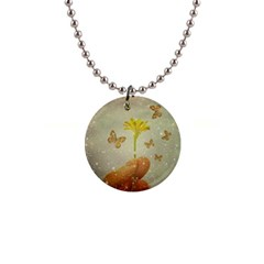 Butterflies Charmer Button Necklace