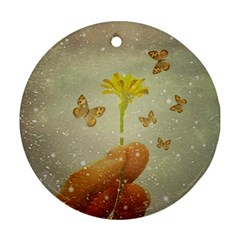Butterflies Charmer Round Ornament (two Sides)