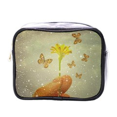 Butterflies Charmer Mini Travel Toiletry Bag (one Side)