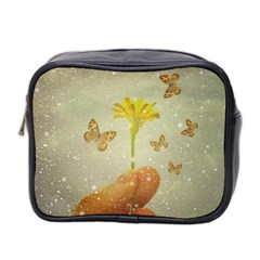 Butterflies Charmer Mini Travel Toiletry Bag (two Sides)