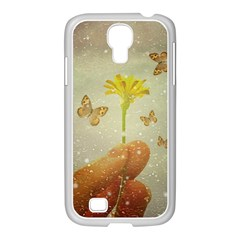 Butterflies Charmer Samsung Galaxy S4 I9500/ I9505 Case (white)