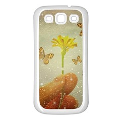 Butterflies Charmer Samsung Galaxy S3 Back Case (white)