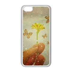 Butterflies Charmer Apple Iphone 5c Seamless Case (white)