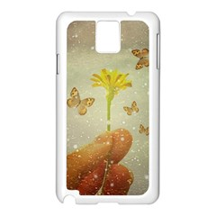 Butterflies Charmer Samsung Galaxy Note 3 N9005 Case (white)