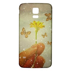Butterflies Charmer Samsung Galaxy S5 Back Case (white)