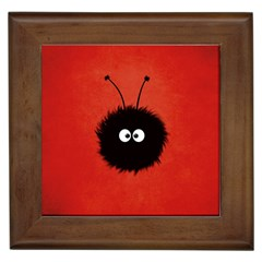 Red Cute Dazzled Bug Framed Ceramic Tile
