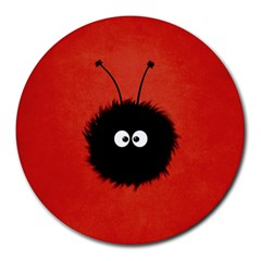 Red Cute Dazzled Bug 8  Mouse Pad (Round)