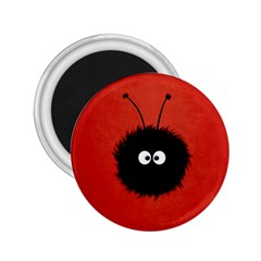 Red Cute Dazzled Bug 2.25  Button Magnet