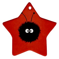 Red Cute Dazzled Bug Star Ornament