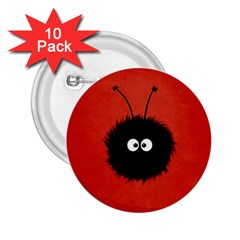 Red Cute Dazzled Bug 2.25  Button (10 pack)
