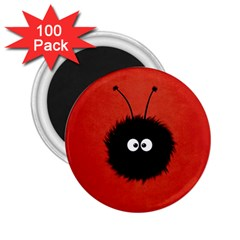 Red Cute Dazzled Bug 2.25  Button Magnet (100 pack)