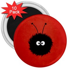 Red Cute Dazzled Bug 3  Button Magnet (10 pack)