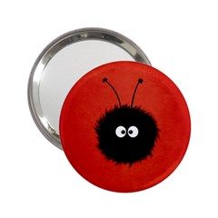 Red Cute Dazzled Bug Handbag Mirror (2.25 )