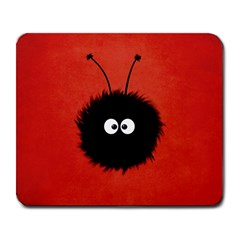 Red Cute Dazzled Bug Large Mouse Pad (rectangle)