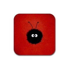 Red Cute Dazzled Bug Drink Coasters 4 Pack (Square)