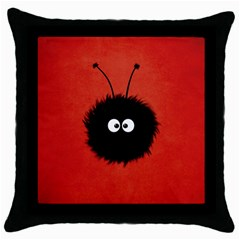 Red Cute Dazzled Bug Black Throw Pillow Case