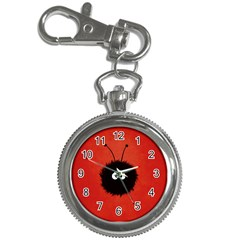 Red Cute Dazzled Bug Key Chain Watch