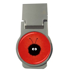Red Cute Dazzled Bug Money Clip (Round)