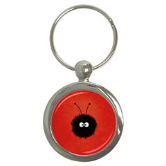 Red Cute Dazzled Bug Key Chain (Round)